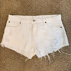 White Ralph Lauren Cut Off Shorts